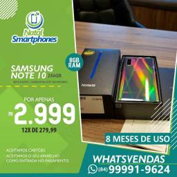 Samsung Galaxy NOTE 10 256GB (DUAL, 8GB RAM CAMERA TRIPLAS) IMPECÁVEL+NF