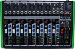 Mesa De Som 8 Canais Com Mp3 Bluetooth Pm-1224 Usb Probass