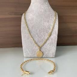 Semijoias cordão correntes com 35% de ouro de banho 18k! Entrega em mãos!