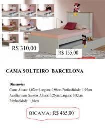 Bicama solteiro Barcelona 465,00