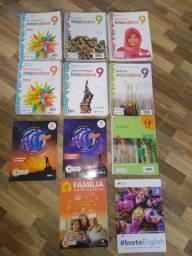 11 Livros Escolares 9°ANO (INTERATIVA) CONSERVADOS !!