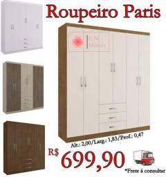 Título do anúncio: Roupeiro Paris / Frete à consultar