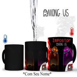Jogo Among Us Caneca Magica Personalizada Com NIck ou Nome Que Desejar, Impostor =)