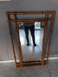 Espelho de bambú