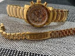 JG relógio kit pulseira