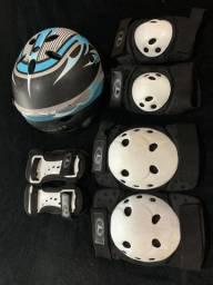 Kit Equipamentos de Proteção Para Skate Traxart