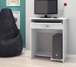 Mesa de computador prática com gaveta
