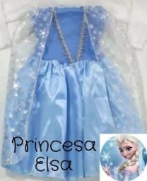 Fantasia infantil vestido princesa Elsa Frozen