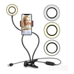 Ring Light portátil com suporte para celular