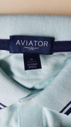 Camisa polo aviator