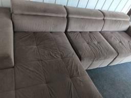 Vendo ou Troco sofá retrátil e reclinável 2,90 com Cheise!