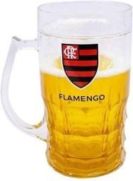 Caneca Chop De Vidro 600ml Flamengo Presente