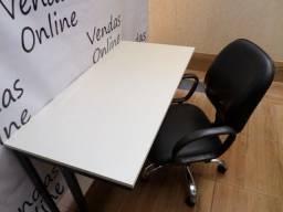 Título do anúncio: Mesa e Cadeira Escritório MDF 15 mm 1,20 x 0,60.