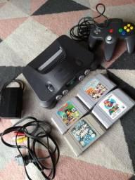 Nintendo 64 completo 4 cartuchos