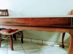 Mesa rustica com tampo em mdf