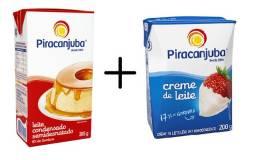 Kit Leite Condensado + Creme de Leite - Piracanjuba - R$6,50
