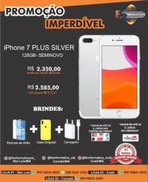 IPhone 7 plus 128gb prata semi novo