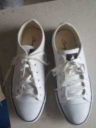 Tênis couro branco número 38
