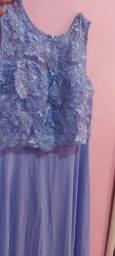 Vendo lindo vestido de renda azul