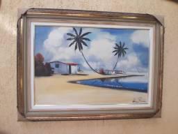 Quadro Emoldurado Painel Praia 110x83