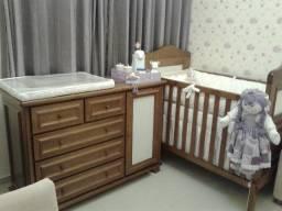Berço americano / mini-cama de madeira + cômoda.