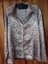 543 - Camisa social cetim feminina - Tam G