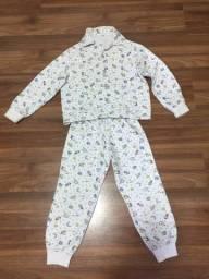 Pijama infantil super quentinho tamanho 5 anos