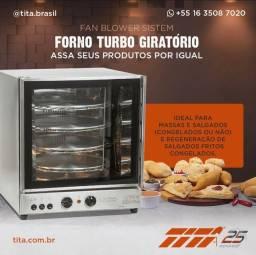 Forno turbo Giratorio - ideal para Conveniencia pão de queijo - JM equipamentos BC
