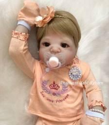 Título do anúncio: Bebê Reborn Viviane Silicone Pronto Envio! Com Enxoval
