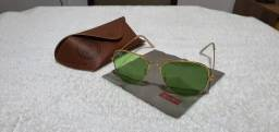 Óculos Rayban Aviador com lente de cristal
