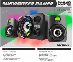 Caixas + Subwoofer Gamer Led Ss-9800 K-mex 2.1 Stereo 9.9w Rms
