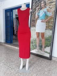 Vestido Midi Malha Canelada