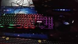 Mouse,teclado e mouse pad gamer