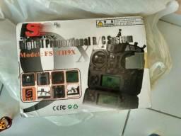 Rádio controle FS-TH9X SEMI-NOVO na caixa