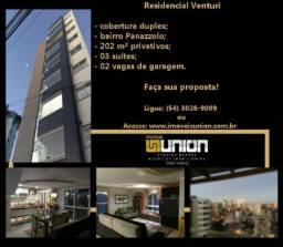 Oferta Union Imóveis! Cobertura duplex com 202 m² privativos no bairro Panazzolo!