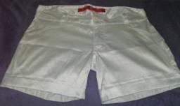 Bermuda branca 100% algodão -numero 44