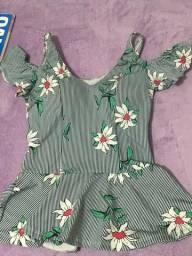 Blusa floral P/M