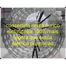 Cerca ouriço concertina eletrificada promocao