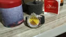 Relogio neon com pulseira de silicone