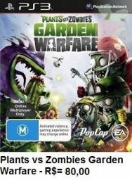 Plansta x Zombies Garden Warfare de Play 3