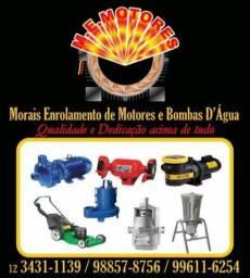 Rebobinamento de motores elétricos e manutenção de bombas dagua