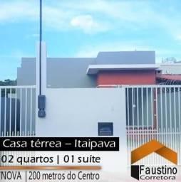 Linda casa nova próxima à praça de Itaipava, 02 quartos (01 suíte), Financiável