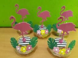 Potinhos tema flamingo