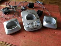 Telefone sem fio Panasonic 3 canais