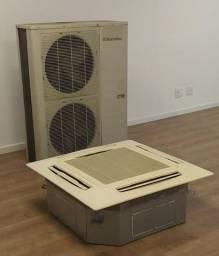 Condicionador de Ar tipo cassete (completo - Evaporadora e Condensadora 4 defletores)