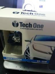 Lâmpada super branca h3 tech one garantia instalado
