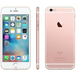 IPhone Apple 6s Plus 128GB Rose Lacrado Garantia Apple 1 Ano -Somos Loja