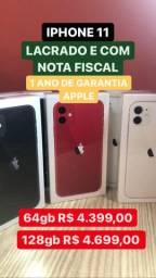 IPHONE 11 LACRADO E NF 64-128gb