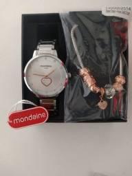 Kit Feminino Mondaine Relógio + Pulseira