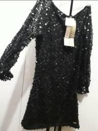 Vestido Festa* M,Jaqueta curta feminina de couro legítimo de búfalo
